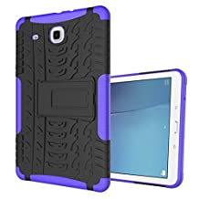 "MOONCASE Galaxy Tab E 9.6-inch Case Built-in Kickstand Hybrid Armor Case Detachable 2 in 1 Shockproof Tough Rugged Dual-Layer Case Cover for Samsung Galaxy Tab E 9.6"" Purple"