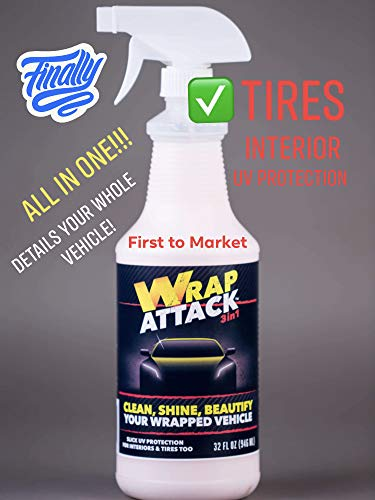 Wrap Attack 32oz - All-in-One Wrap Vehicle Cleaner, Shine & UV Protection