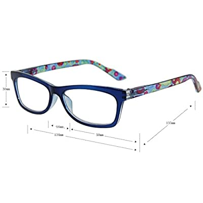 Liansan Designer Readers 4 Pairs Rectangular Plastic Frame Reading Glasses for Men and Women L3706X