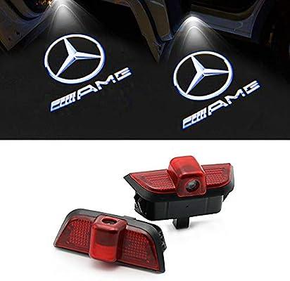 likecar 2pcs última Car Styling LED Bienvenida Puerta Logo Laser ...