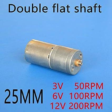 Amazon com: Fetcus Double flat Short shaft All metal 25MM DC