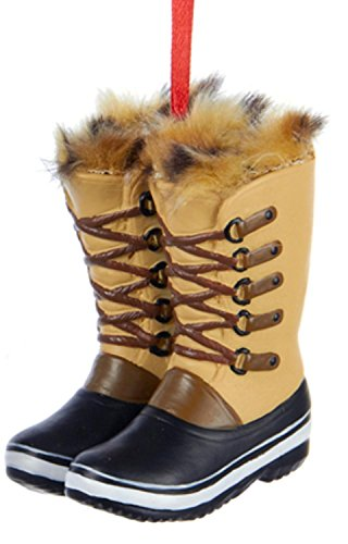 Faux Fur Christmas Boot - 1