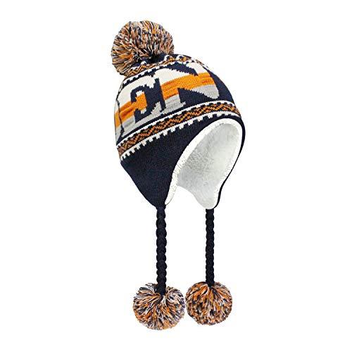 (ChoKoLids Football Team City Name Knitted Pom Pom Earflap Winter Hat - 23 Cities (Denver))