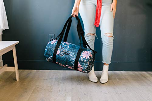 Jadyn B 19 Barrel Women's Duffel Bag, Navy Floral