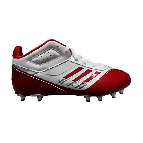 adidas Mens AS SMU Supercharge Mid Fly Football Cleats Running White/Unired/Metallic Silver XYQKxxLbkU