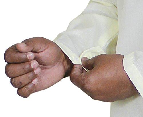 Rétro kurta hommes de coton de style chemise à manches longues robe de yoga brodé