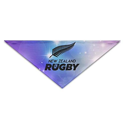 Pet Bandanas - Personalized NZRU New Zealand Rugby Union Pet Bandana Scarf - Triangle Scarf Collar Neckerchief For Dog Cat (Mitre Cup)
