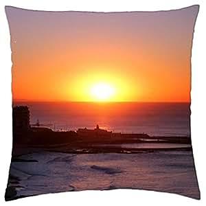 Beach Sunrise - Throw Pillow Cover Case (18