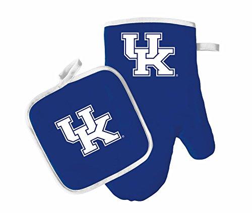Oven Mitt and Pot Holder Set - Barbeque BBQ Kitchen Backyard Outdoors - NCAA - Kentucky Wildcats ()