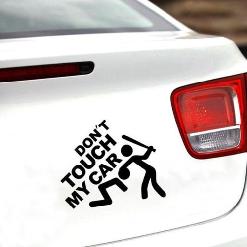 Adesivo sticker vinile DONT TOUCH MY CAR auto moto scooter tuning styling NERO