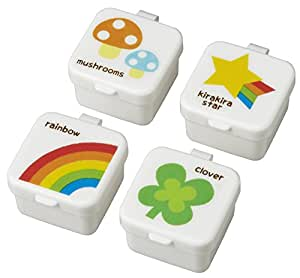 CuteZCute Mini Condiment Mayo Container for Bento Lunch Box, Rainbow, Clover, Star, Mushroom, Set of 4