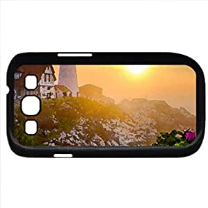 Landscape (Sunsets Series) Watercolor style - Case Cover For Samsung Galaxy S3 i9300 (Black)