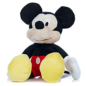 Disney Baby Mickey Mouse Stuffed Animal Plush Toy with Jingler and Crinkle, 14 Inches