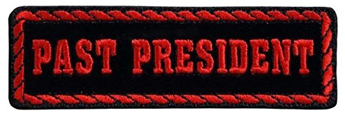 Black And Red Past President Rider Motorcycle Uniform Patch ()