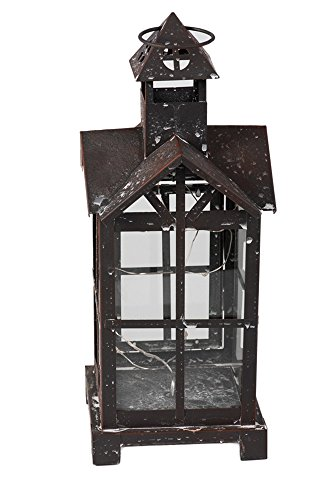 Large Metal and Glass Battery Powered Electric LED Decorative Lantern (Lanterns Electric Chinese)