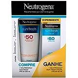 Kit Protetor Solar Neutrogena Sun Fresh FPS50 Grátis Facial FPS60