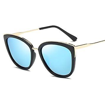 gafas de sol La nueva marea gafas de sol gran caja cuadrada fina cara redonda gafas
