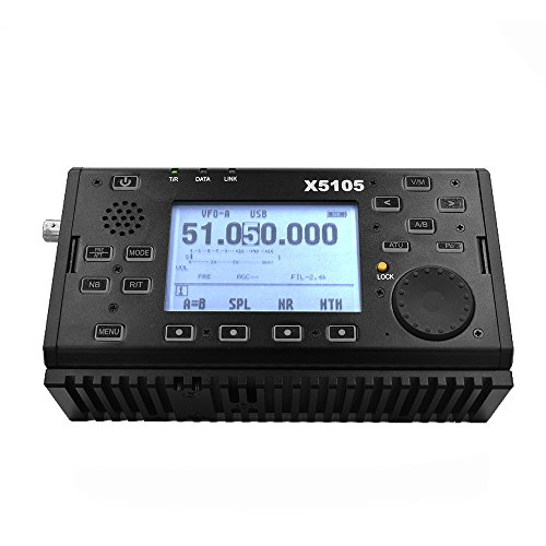Xiegu X5105 OUTDOOR VERSION 0.5-30MHz 50-54MHz 5W 3800mAh HF TRANSCEIVER with USB Cable,IF Output, All Bands Covering SSB CW AM FM RTTY PSK Black by Xiegu (Image #6)