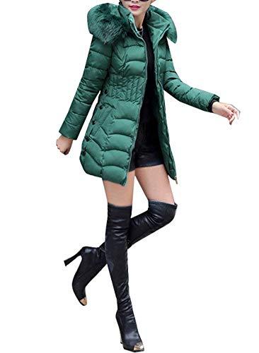 Veste Mode Fit Slim Femme Capuchon Longues Hiver avec Manches Fourrure Doudoune BqPrSBw4