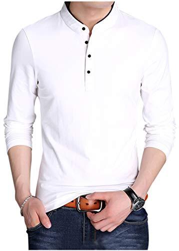 [ゴスファング] 春物 長袖 カットソー ロンT スタンドカラー シンプル お洒落 大人 カジュアル M ~ 2XL メンズ