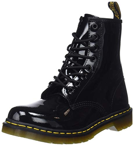 Dr. Marten's Women's 1460 8-Eye Patent Leather Boots, Black Patent Lamper, 7 F(M) UK / 9 B(M) US Women / 8 D(M) US (Patent Leather Tab)