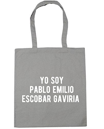 HippoWarehouse Yo Soy Pablo Emilio Escobar Gaviria Tote Compras Bolsa de playa 42cm x38cm, 10litros gris claro