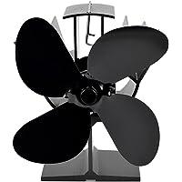 4 Kanatlı Isıtmalı Soba Fanı Ahşap Kütük Brülörü için Termodinamik Şömine Fanları Şömine Sessiz Çevre Dostu Isı Dağıtımı…