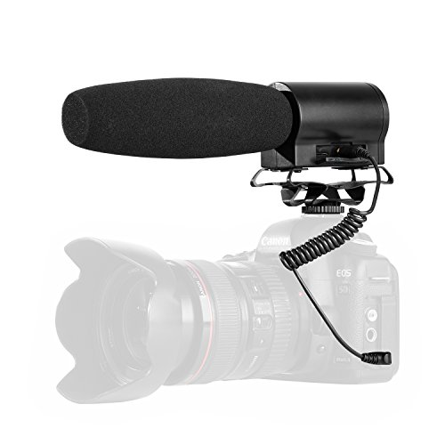 BOYA BY-DMR7 Shotgun Condenser Microphone Broadcast Quality with Integrated Flash Recorder & LCD Display for Canon Nikon Sony DSLR Cameras and Video Cameras