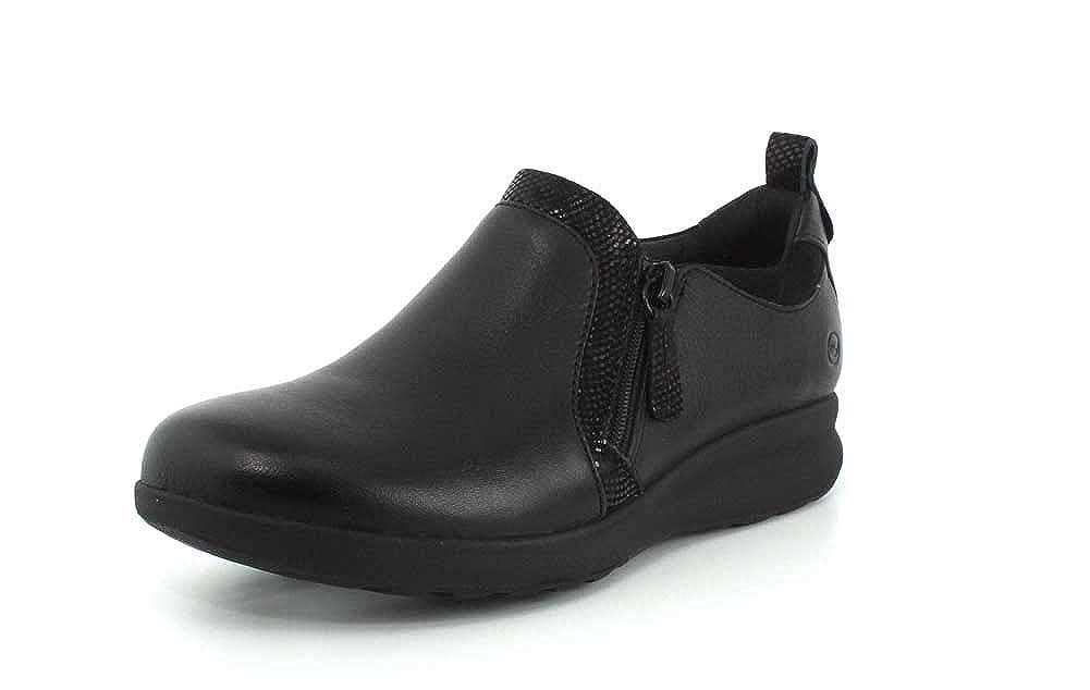 Noir 40.5 EU Clarks Femmes Un Adorn Zip Chaussures De Sport A La Mode