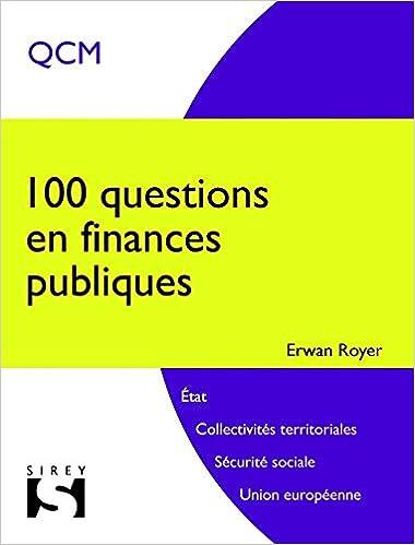 100 questions en finances publiques - 1ère édition epub, pdf