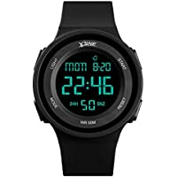 Boys Watch Digital Sports Waterproof Military Back Light Teens Gifts for Girls Boys Ages 10-15 Black