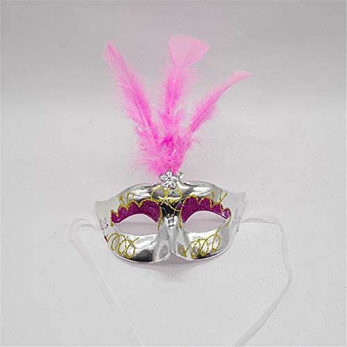 Feather Mask Masquerade Party Props Female Princess Mask Children's Toys 3 ()
