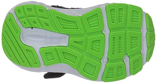 New Balance Boys' 680v5 Hook and Loop Running Shoe Black/RBG Green 2 M US Infant by New Balance (Image #3)