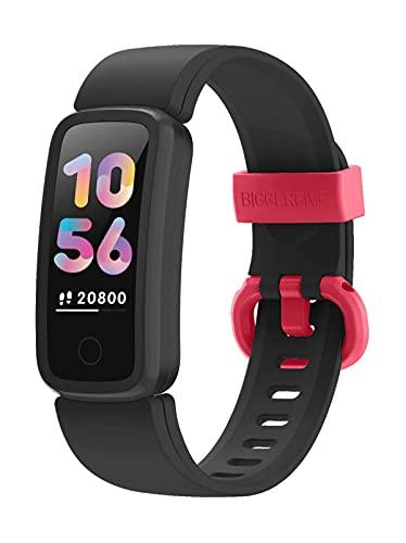 BIGGERFIVE Fitness Tracker Watch for Kids Girls Boys Teens, Activity Tracker, Pedometer, Heart Rate