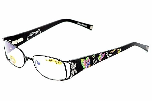 Ed Hardy EHO720 Eyeglasses EHO 720 Black Optical Frames: Amazon.co ...
