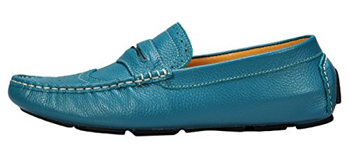Serene Mens Driving Moccasin Slip On Casual Boat Loafer(7 D(M)US, Blue)