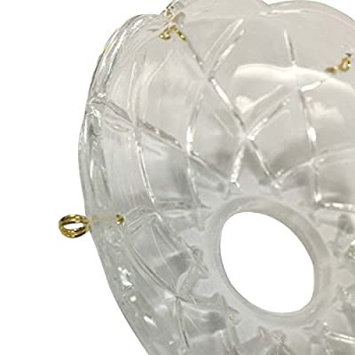 Bobeche Clear Crystal, Bobeche Crystal 4 in. outer dia., 1 in. inner dia.