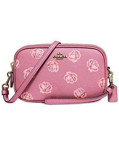 COACH Women's Crossbody Clutch With Floral Print B4/Rose Rose Print One Size
