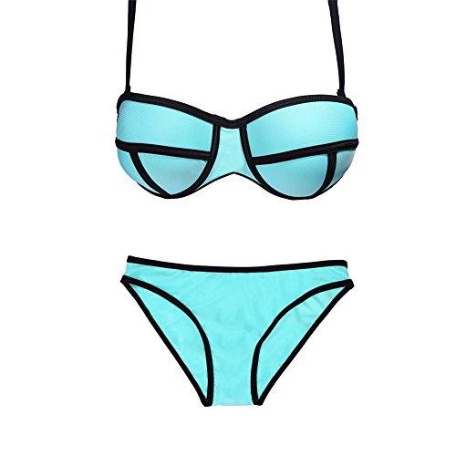 Luxury Swimsuit Swimwear Push up Bright Diving Suit Neoprene Bikini Set