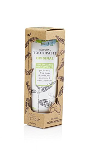 - THE NATURAL FAMILY & Co - Natural Toothpaste - Original Formula - With Native Australian Rivermint. - 70% Organic Ingredients - Vegan - Made in Australia - 110 gr