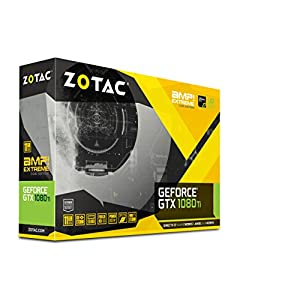 ZOTAC GeForce GTX 1080 Ti AMP Extreme Core Edition 11GB GDDR5X 352-bit PCIe 3.0 Gaming Graphics Card VR Ready (ZT…