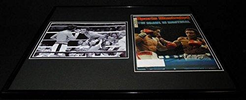 - Sugar Ray Leonard Signed Framed 1980 Sports Illustrated Cover + Photo Set - Autographed Boxing Magazines