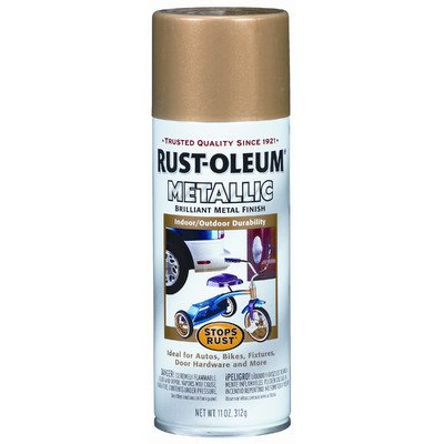 Rust-Oleum 7270830 Metallic Spray, Gold Rush, 11-Ounce - 6 P