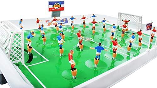 ISO TRADE Juego de Mesa fútbol plástico tamaño L - Juego fútbol de Mesa con resortes #1499: Amazon.es: Juguetes y juegos