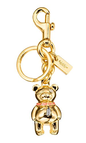 Charm Key Fob (COACH 3 - D Bear Bag / Purse Charm Key Fob / Chain in Gold 87166)