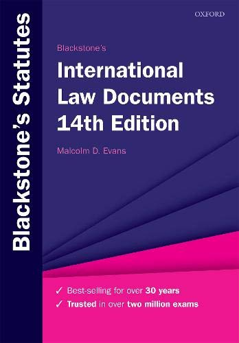 Blackstone's International Law Documents (Blackstone's Statute Series) por Malcolm Evans
