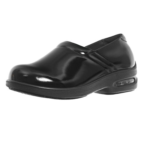 Shoes For Crews Womens Air Clog Leather Shoes 9071 Black