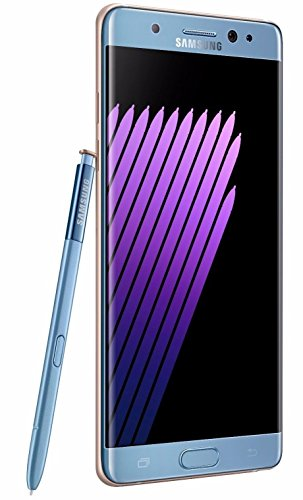 Samsung Galaxy Note 7 N930FD DUAL SIM Factory Unlocked Smartphone International Version No Warranty - 64GB (Blue)