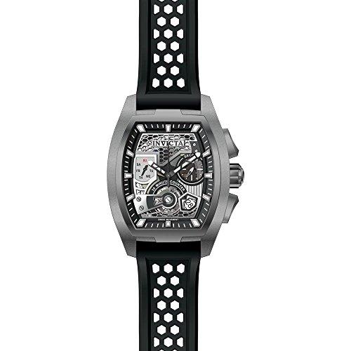 Invicta Men's 26401 S1 Rally Quartz Multifunction Black, Silver Dial Watch