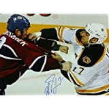 Milan Lucic Boston Bruins Signed 8x10 Photo v Komisarek